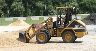 Loading Landscaping Materials at Dunnellon Mulch & Stone